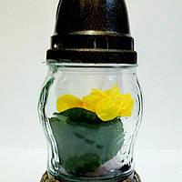 Лампадка стекло, цветок