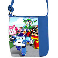 Синяя сумка для мальчика Little prince с принтом Робокар Поли