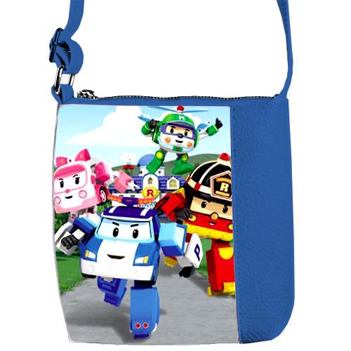Синяя сумка для мальчика Mini Mister с принтом Робокар Поли