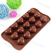 Форма для шоколада Сердечко с капелькой
