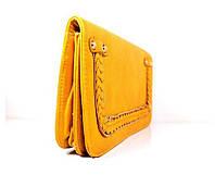 Небольшая-маленькая сумка  напульсник клатч через плече желтая