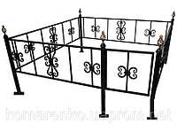 Металлическая ритуальная ограда, фото 1