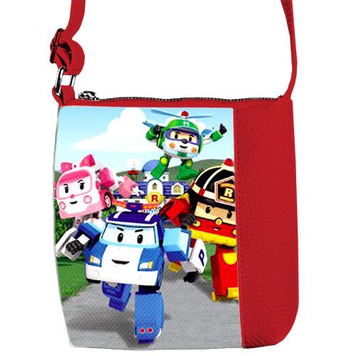 Красная сумка для мальчика Mini Mister Робокар Поли