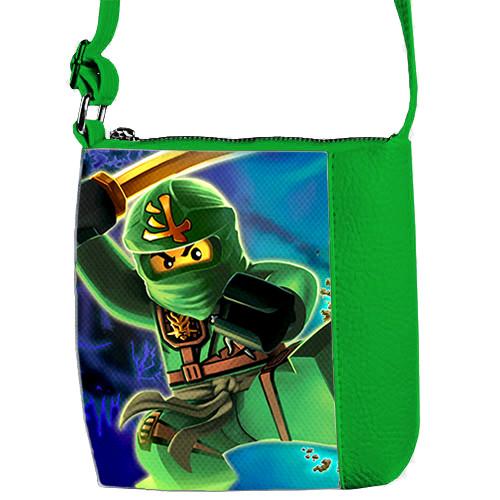 Зеленая сумка для мальчика Mini Mister с принтом Ниндзяго