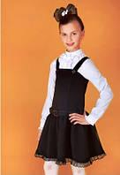 Школьный черный сарафан. Размер  134