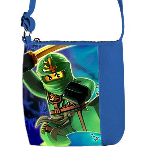 Синяя сумка для мальчика Mini Mister с принтом Ninjago