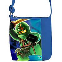Синяя сумка для мальчика Little prince с принтом Ninjago