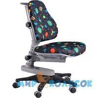 MEALUX Кресло Y-818 GB черное с жучками