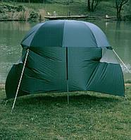Зонт розкладний Lineaeffe для коропової риболовлі з тентом від вітру d=220см