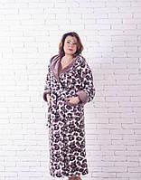 Махровый длинный халат с капюшоном (жираф)