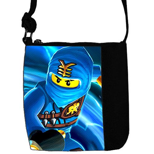 Черная сумка для мальчика Mini Mister с принтом Ниндзяго