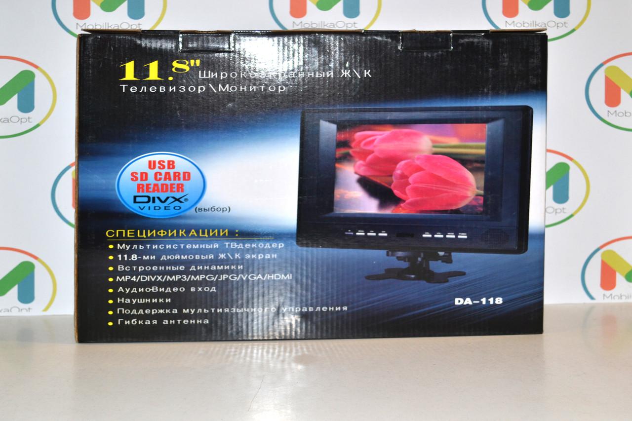 """Автомобильный телевизор/монитор DA-118 (11.8"""")"""