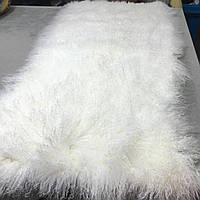 Ковер из меха тибетской ламы белоснежного цвета в Украине