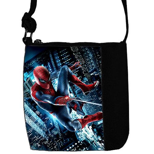 Черная сумка для мальчика Mini Mister с принтом Спайдермен