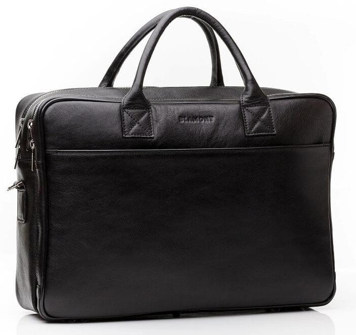 Кожаная мужская деловая сумка Blamont 026 черная