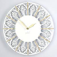 """Дизайнерские настенные часы """"Имад""""(33 см) белые [Акриловое стекло, Открытые]"""