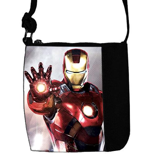 Черная сумка для мальчика Mini Mister с принтом Ironman
