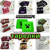 """Бумажные тарелки Minecraft - """"Creeper Plates"""" - 1 шт."""