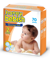 Подгузники HoneyBebish 2 размер - 70шт./уп.