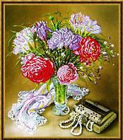 """Схема для вишивки бісером """"Букет квітів і перлини"""""""