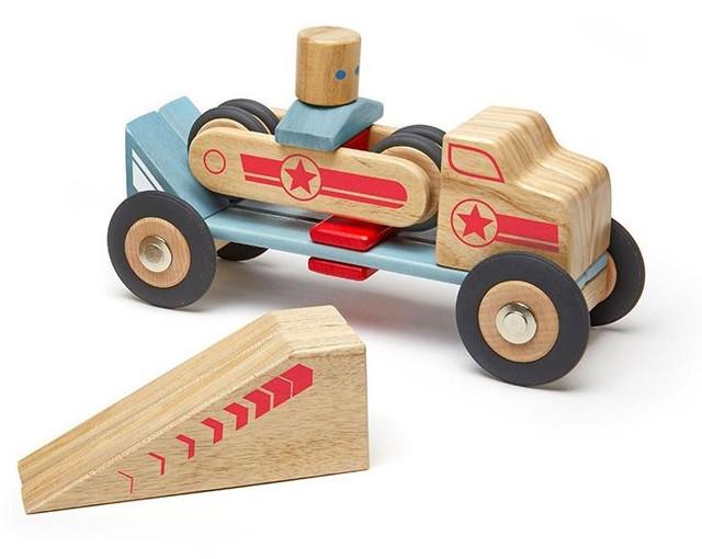 Деревянный магнитный конструктор Tegu