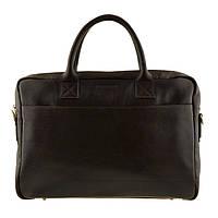 Кожаная мужская деловая сумка Blamont 026 коричневая