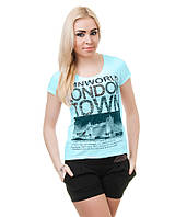 Футболка женская Лондон голубая, фото 1