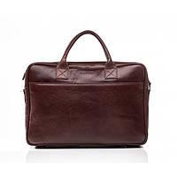 Кожаная мужская деловая сумка Blamont 026 коньячная
