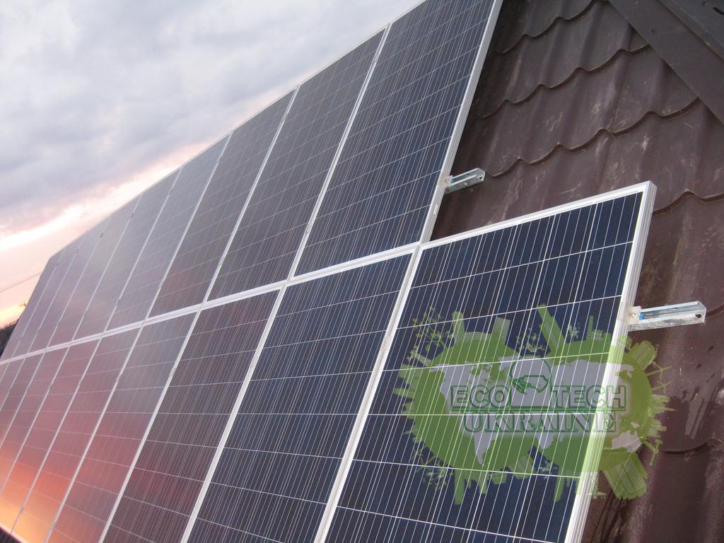 Домашняя сетевая солнечная электростанция под Зеленый тариф 5,2 кВт г. Кривой Рог
