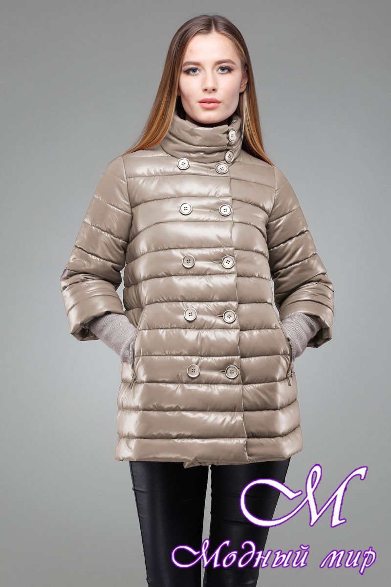 Женская стильная бежевая куртка (р. 42-50) арт. Ирада