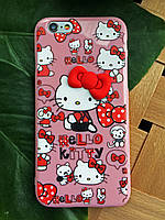 Силиконовый чехол Китти iPhone 6S/6, Hello Kitty
