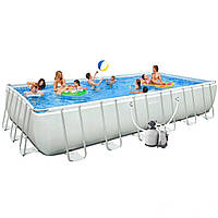 Каркасный бассейн Intex 28368. Ultra Frame Rectangular Pool 732 х 366 х 132 см