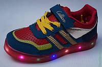 Детские весенние модные кроссовки бренда Callion Турция со светящейся подошвой Размеры 28, 30