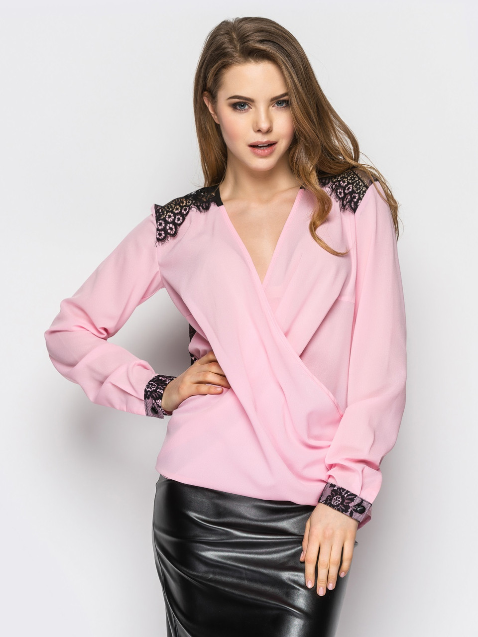 Блуза с гипюром 439 (3 расцветки)