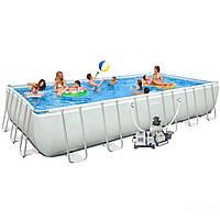 Каркасный бассейн Intex 28367. Ultra Frame Rectangular Pool 732 х 366 х 132 см