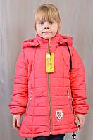Красивая модная яркая детская демисезонная куртка на девочку, р.110,116,122,128.