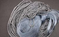 Сеть Финка одностенная рыболовная из лески для промышленного лова, 30*1,6 м, поплавки и грузики в шнуре