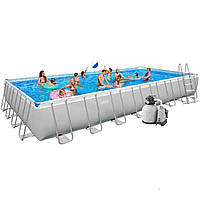 Каркасный бассейн Intex 28376 / 28374 / 54988. Ultra Frame Rectangular Pool 975 х 488 х 132 cм