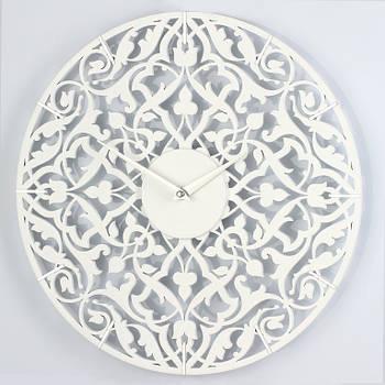 """Дизайнерские настенные часы """"Порту"""" (33 см) белые [МДФ, Открытые]"""