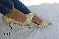Туфли лаковые на шпильке 88-1