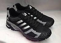 """Мужские кроссовки """"Adidas"""" №9305 (черный)"""