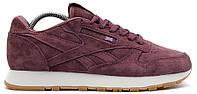 Мужские кроссовки Reebok Classic Suede 'Brown' (замшевые Рибок Классик) бордовые