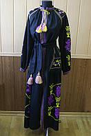 Жіноча вишиванка-плаття Олеся довге
