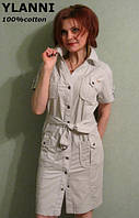 Платье для женщин из льна и хлопка Ylanni 327