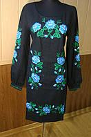 Жіноча вишиванка платье Маки синие