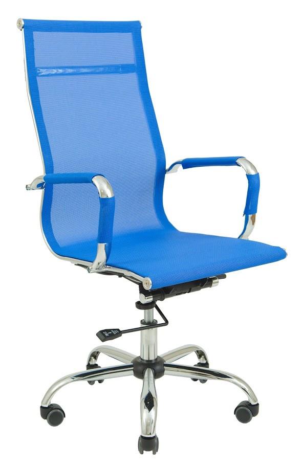 Кресло Slim Net HB сетка синяя (фото 2)