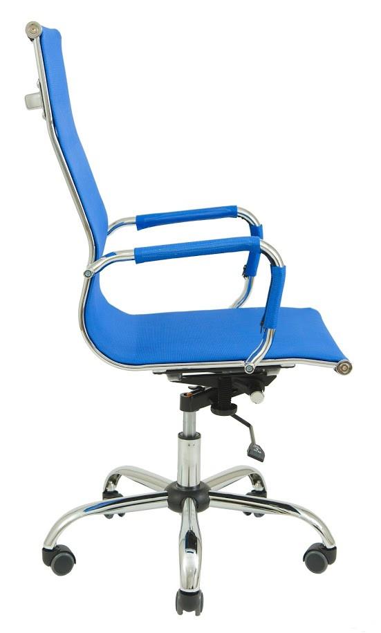 Кресло Slim Net HB сетка синяя (фото 3)