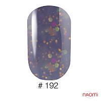 Гель-лак Naomi 6 мл Candy Bar 192 молочно-лиловая карамель с конфетти