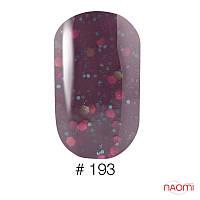 Гель-лак Naomi 6 мл Candy Bar 193 молочно-шоколадный с конфетти