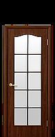 """Дверное полотно """"Классик"""" Исполнение: со стеклом Сатин (витраж)."""